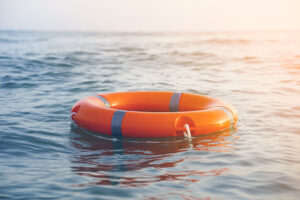 life preserver floating in water
